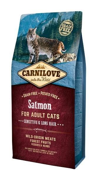 Carnilove Chat Adult Sensitive Long Hair Saumon