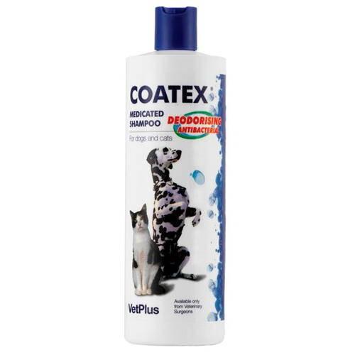 Shampoing traitant Coatex pour le soin de la peau des chiens