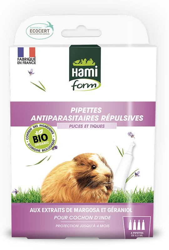 Pipettes antiparasitaires répulsives pour cochons d'inde