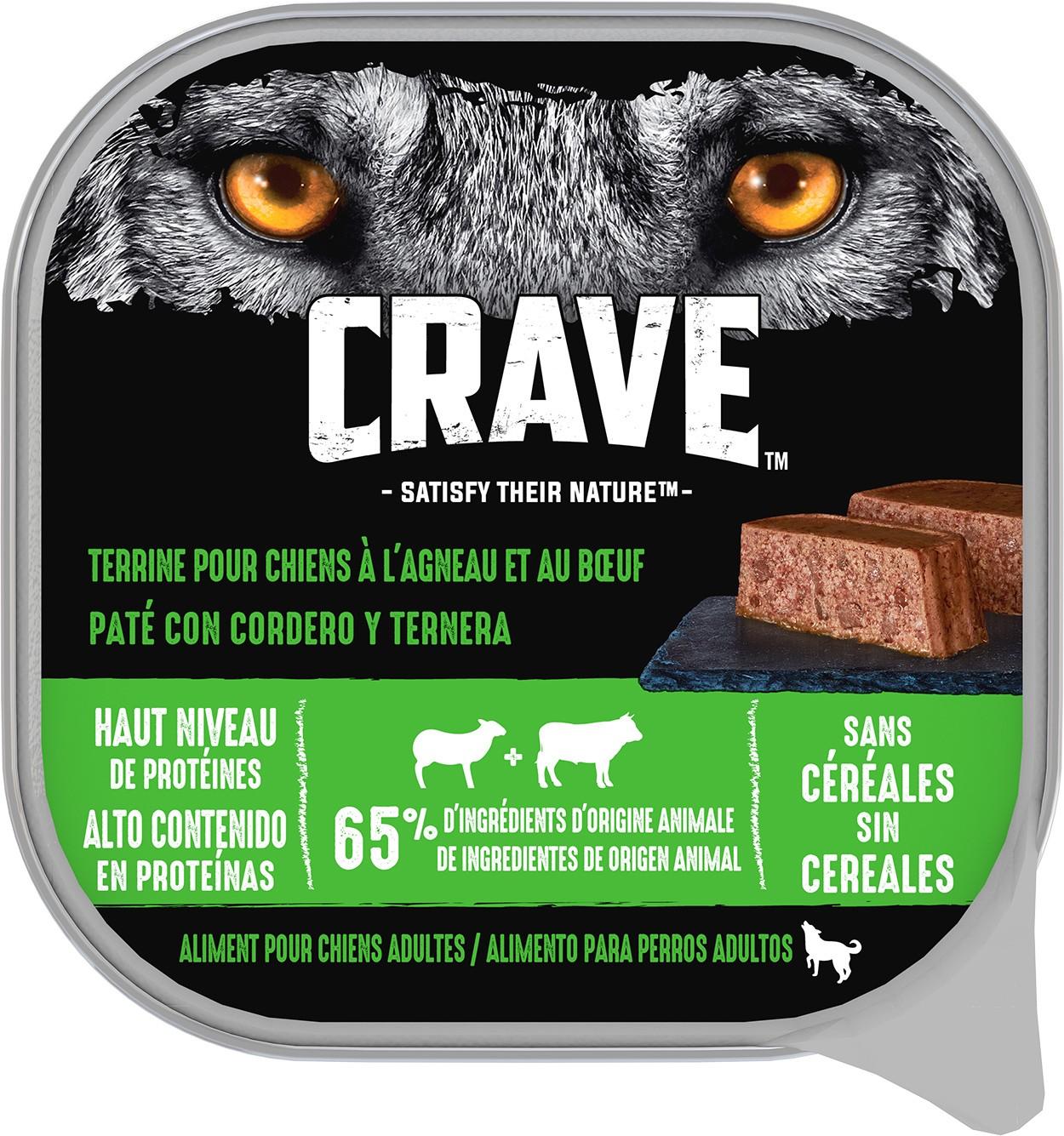 Barquettes CRAVE™ pour chien
