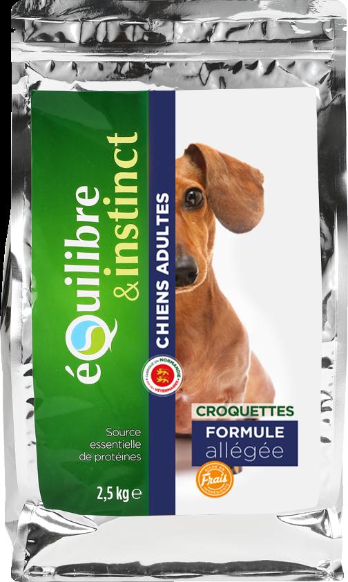Croquettes de viandes fraîches à la volaille pour chien adulte Formule Allégée