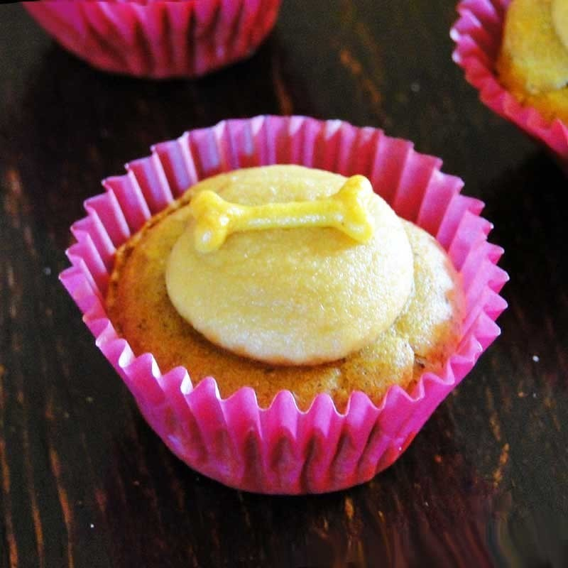 Cupcakes pour chien à la patate douce et au curcuma