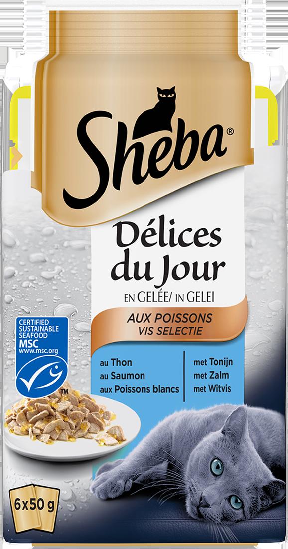 Sheba® Délices du Jour au Poisson en Gelée