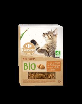 Mini snacks bio pour chats