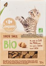 Snack bio au lait pour chats juniors
