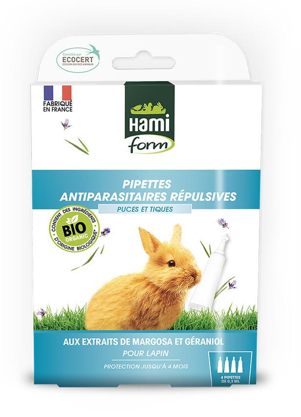 Pipettes antiparasitaires répulsives pour lapins