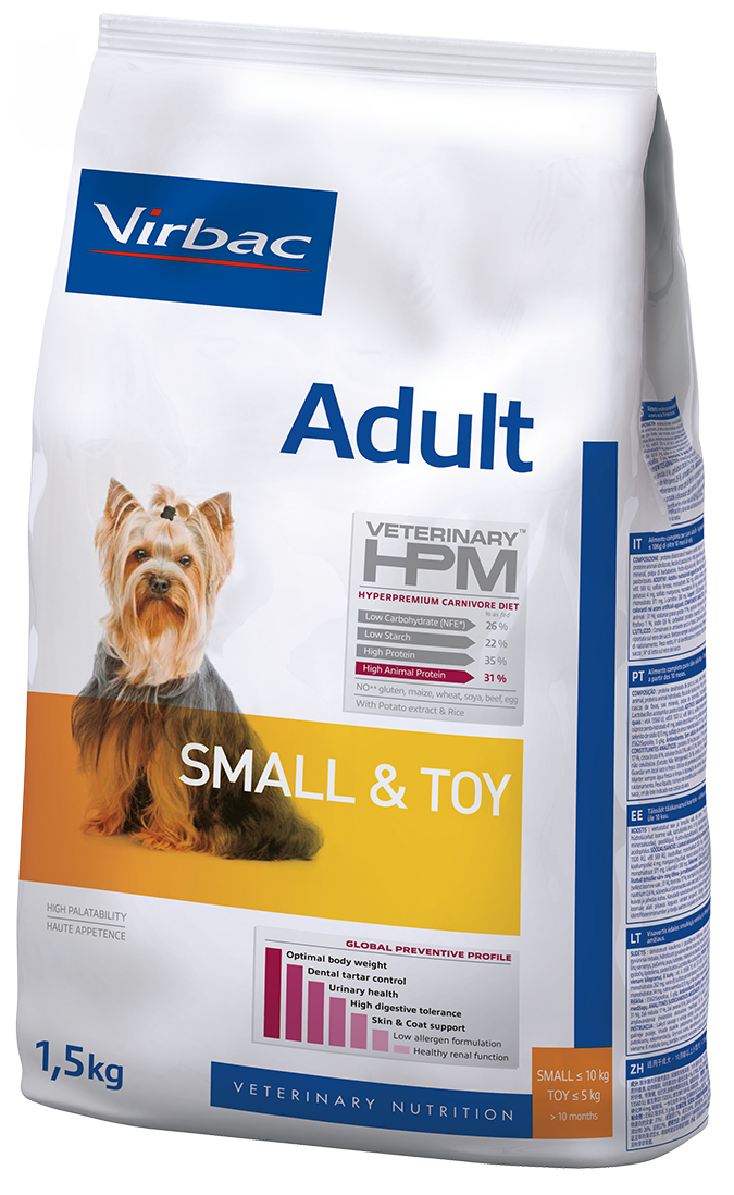 Croquettes VETERINARY HPM Adult Small & Toy