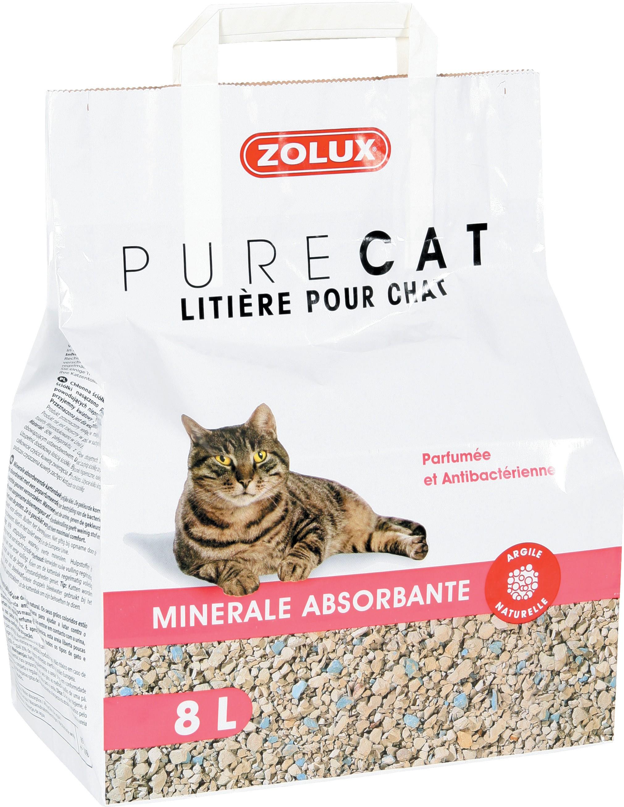 Litière PureCat minérale absorbante