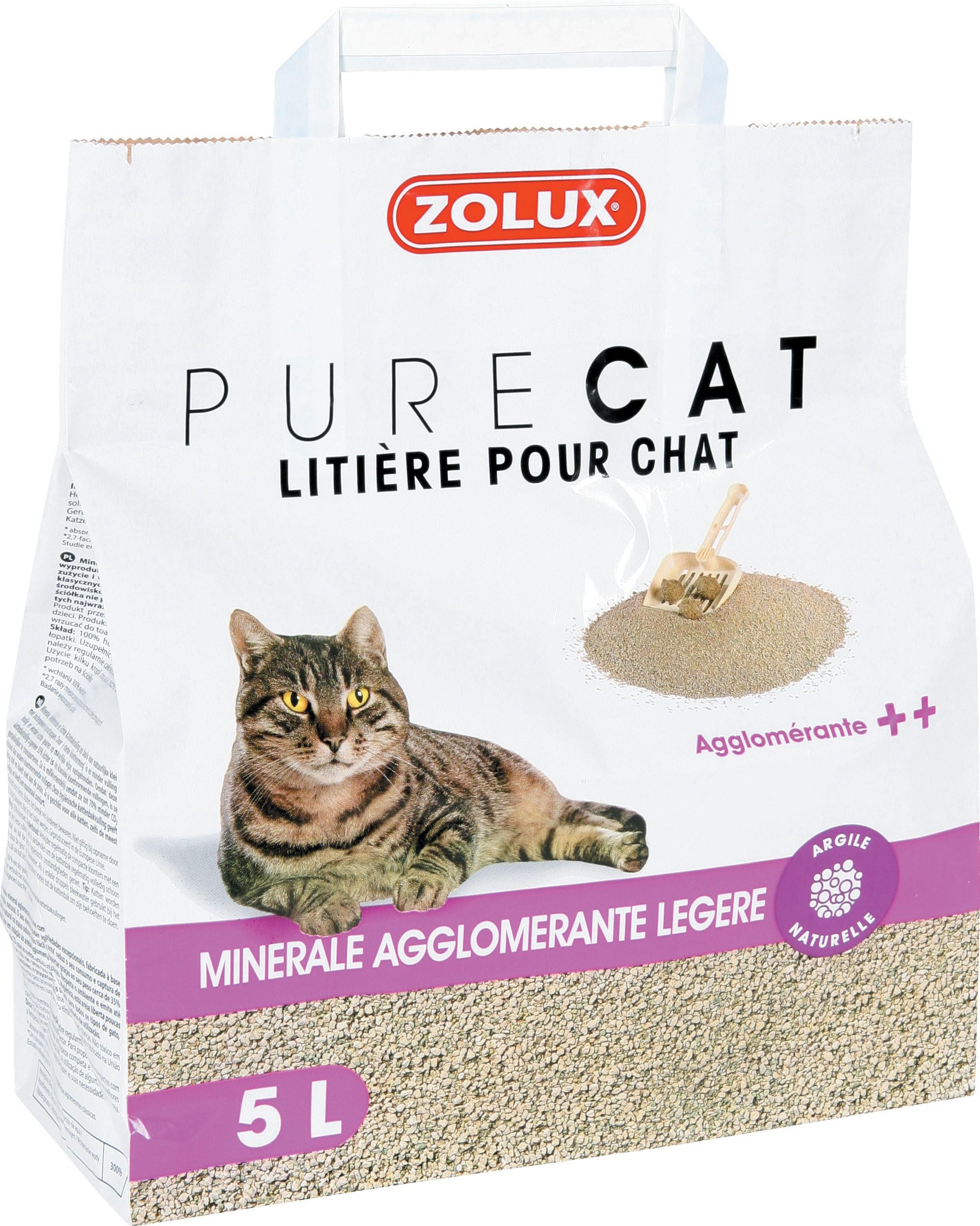 Litière PureCat agglomérante légère