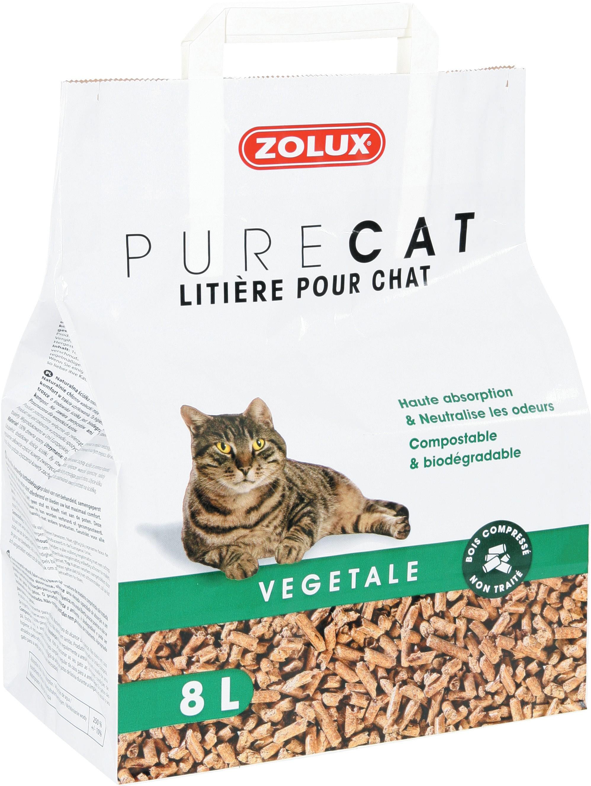 Litière PureCat végétale nature