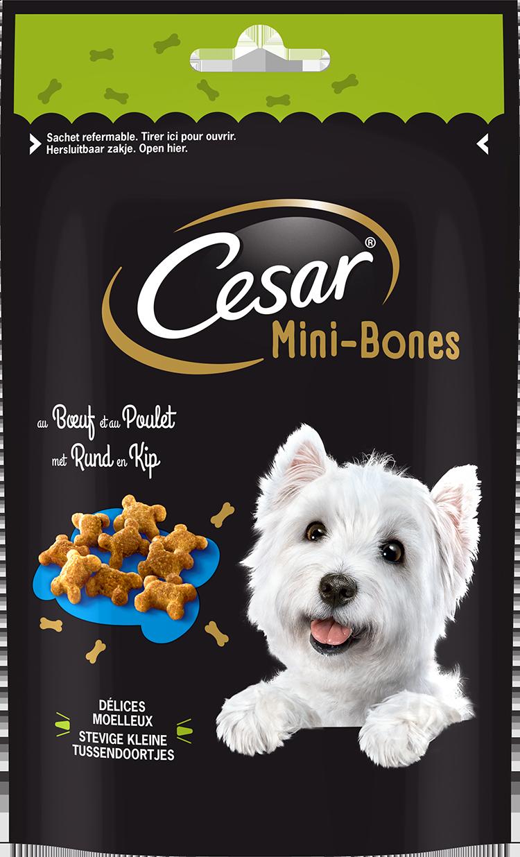 Les Tendres Délices CESAR® Mini-Bones au Bœuf & au Poulet