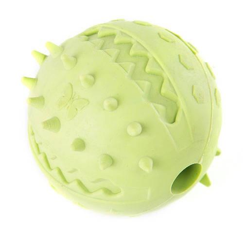 Jouets pour chiens – Balle crantée en caoutchouc