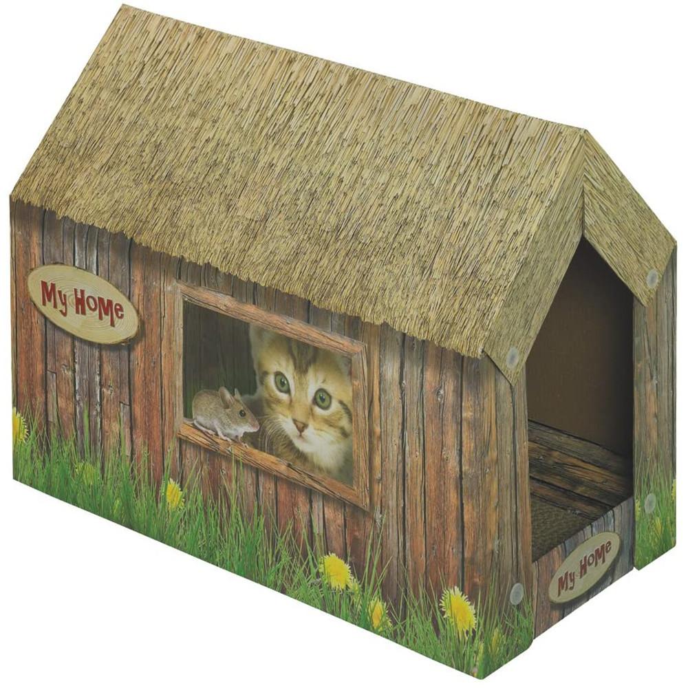 Maison grattoir en carton