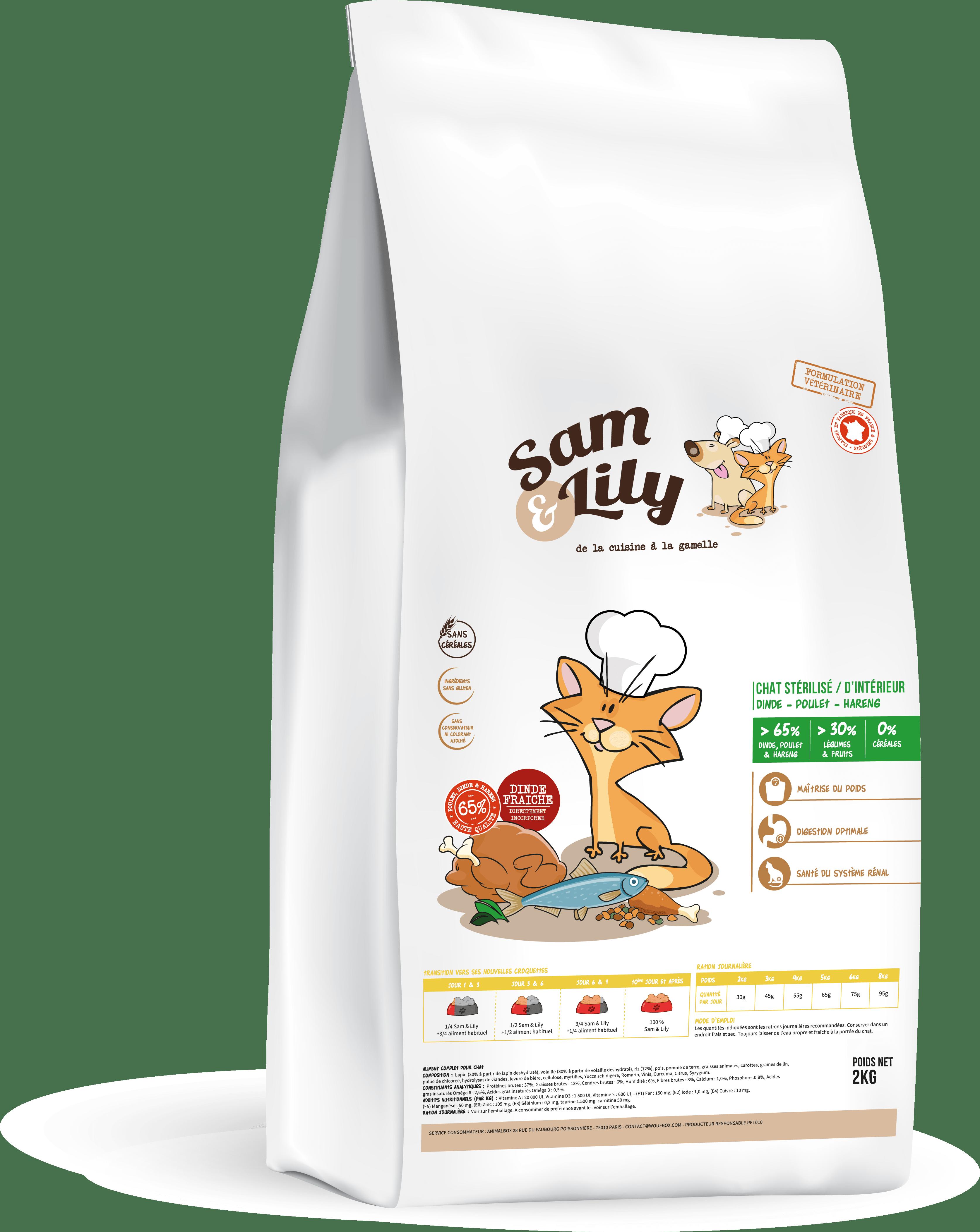 Croquettes pour chats sans céréales