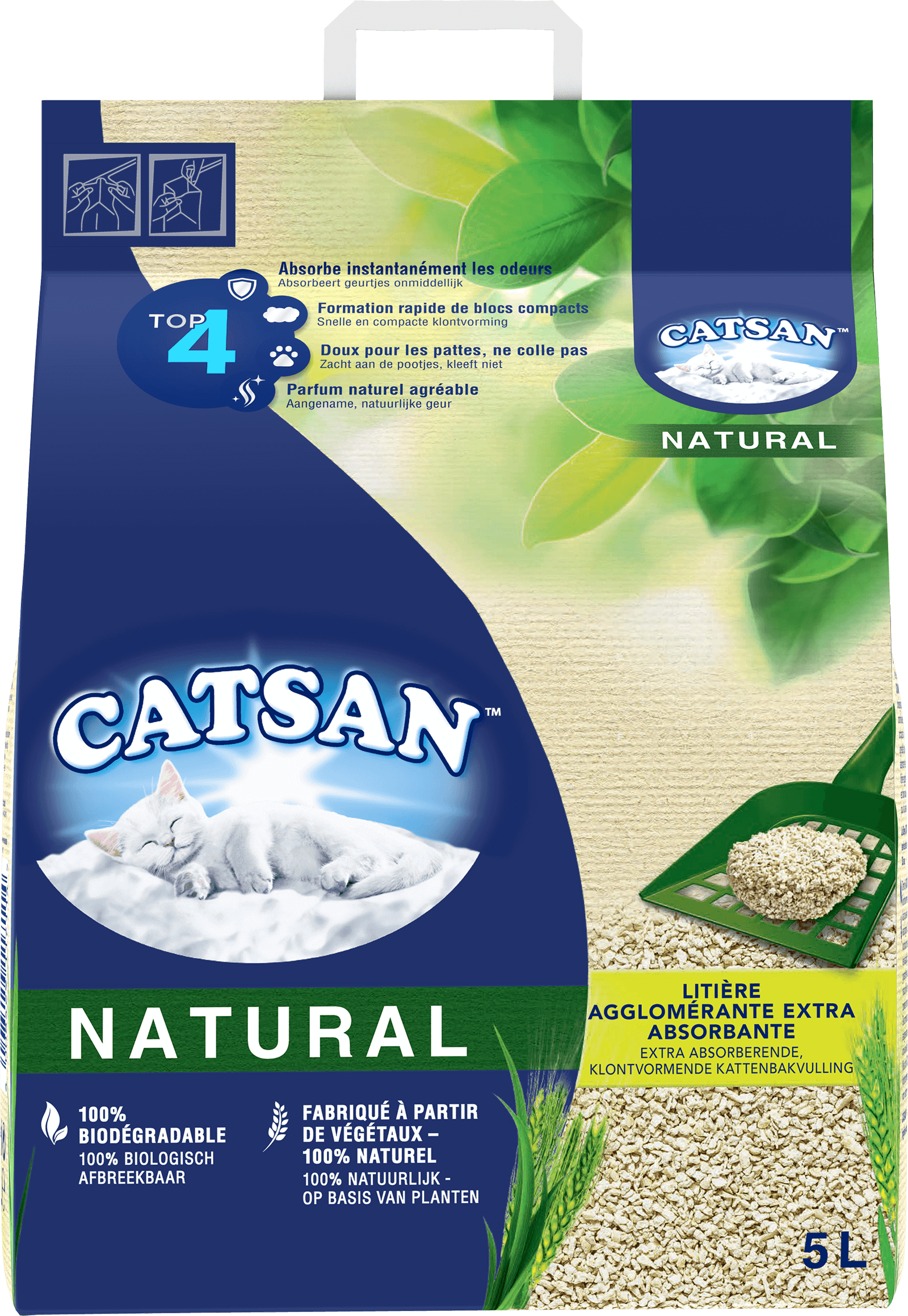 Litière CATSAN™ NATURAL AGGLOMÉRANTE