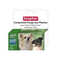 Comprimés purge aux plantes petits chiens et chiots