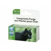 Comprimés purge aux plantes pour chat