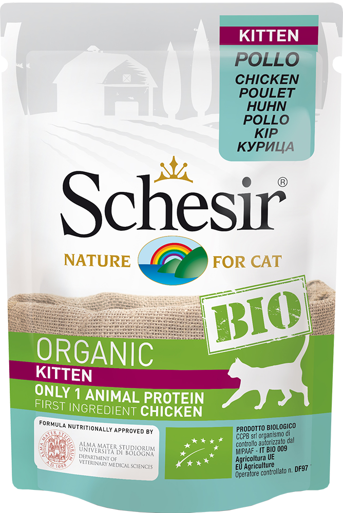 Schesir Humide Kitten BIO pour chatons