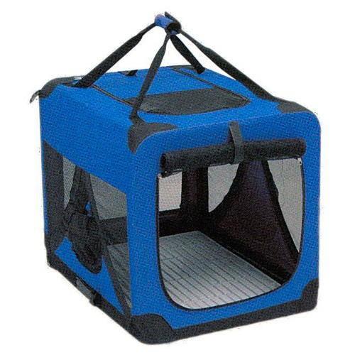 Panier de transport en toile pliable à deux portes pour chien