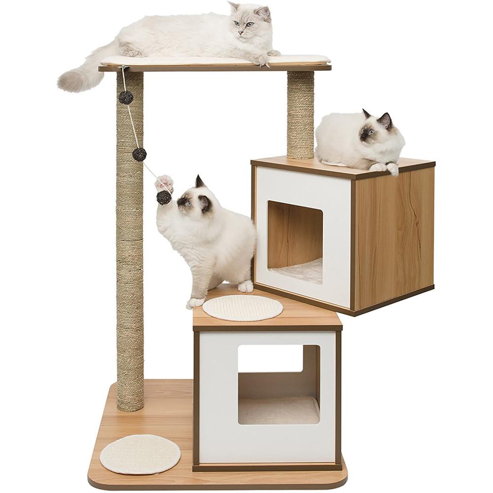 Arbre à chat Double Noyer