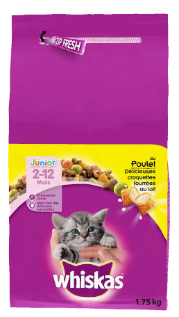 Whiskas® Croquettes Chat Junior Poulet