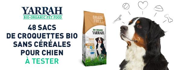 testez gratuitement les croquettes bio sans c r ales de yarrah pour votre chien. Black Bedroom Furniture Sets. Home Design Ideas